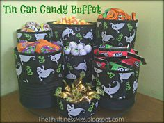 The Thriftiness Miss: The Tin Can Candy Buffet