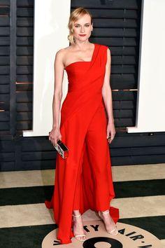 c1232f3bfea Diane Kruger s dress-over-pants combination by Donna Karan Atelier makes me  happy.