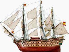 The Artesania Latina Santa Ana wooden ship model accurately recreates the real life Spanish ship. Wooden Ship Model Kits, Model Ship Kits, Wooden Model Boats, Model Warships, Latina Models, Model Ship Building, Hms Victory, Ship Drawing, Ship Of The Line