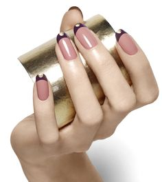 Funky color blocked nails