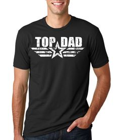 Top Dad T-shirt Gift For Father Tee Shirt Fathers by SilkRoadTees Crew Shirt, Neck T Shirt, Tee Shirts, Movie Shirts, Daddy Birthday Gifts, Birthday Shirts, Birthday Parties, T Shirt Streetwear, Dad To Be Shirts