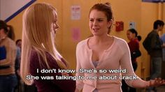 From Karen's rain-sensing breasts to Gretchen Weiners high-powered dad, enjoy thirty-three of the most hilarious Mean Girls quotes! Gemeiner Humor, Mean Humor, Mean Girl 3, Mean Girl Quotes, Fact Quotes, Movie Quotes, Mean Girls Plastics, My Love Meaning, Movies