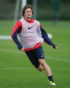 Rosicky Trains Before Match vs West Bromwich 2013.