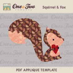 Squirrel & Fox  Applique Template