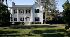 White painted Historic Home - Crieve Hall Tour of Homes & 2019 Decorating Trends - The Decorologist Exterior Paint Colors, White Paints, Vintage Designs, House Plans, Real Estate, Tours, Mansions, House Styles, Decorating