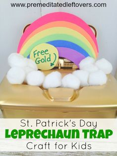 St. Patrick's Day Leprechaun Trap Craft for Kids- Little ones will love making this fun leprechaun trap and waiting to see if it works on St. Patrick's Day!