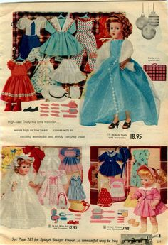 ee scans for details. Girl Doll Clothes, Girl Dolls, Baby Dolls, Madame Alexander, Glamour Dolls, Christmas Catalogs, Retro Toys, Dollhouse Dolls, Revlon