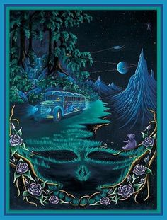 TOTALLY sorta, remember waking up in a spot similar to this in the day. Keep Truckin Grateful Dead Diamond Painting Kit Grateful Dead Image, Grateful Dead Poster, Grateful Dead Quotes, Grateful Dead Wallpaper, Loki Son, Dead Images, Pop Art, Space Wolves, Hippie Art