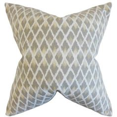 The Pillow Collection Paxton Ikat Bedding Sham Color: Pewter, Size: Standard