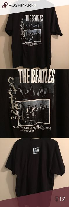 Beatles Cavern Club T shirt In great condition Beetles Final performance Cavern Club T-shirt Size Xlg Shirts Tees - Short Sleeve