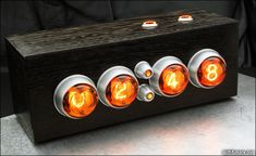 retro space-age clock design using vintage Nixie tubes. Plus, they sell them as…