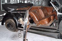Voiture Mercedes cabriolet 320B 1938 num 3 SS de Heydrich exposée au  Deutschen Technikmuseum in Berlin. Mercedes Cabriolet, Army History, German Uniforms, The Third Reich, German Army, Berlin, Armed Forces, World War Ii, Historia
