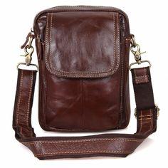 JMD Vintage Real Cow Leather Mini Messenger Bags For Sling Bag Men 1004B