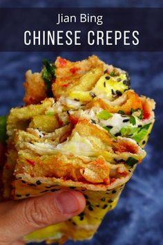 One of the most popular Chinese breakfasts, Jian Bing can be made at home with ease! My recipe includes tips, tricks Drink Recipes, My Recipes, Asian Recipes, Chinese Breakfast, Crepe Maker, Bean Flour, Wonton Wrappers, Spicy Sauce, Pastry Recipes
