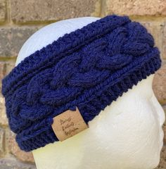 Excited to share this item from my #etsy shop: Blue Knitted cable headband, navy chunky earwarmers, alpaca winter headband, head wrap, navy braided headband, navy headband, hair accessory Winter Headbands, Work Colleague, Headband Hair, Ear Warmers, Hair Accessory, Head Wraps, Knitting Projects, Cable Knit, Hand Knitting
