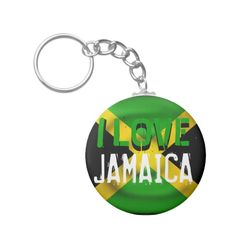 #custom #Jamaican Themed #gifts #keychain #Jamlanddesigns -  I love Jamaica.....