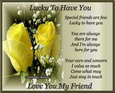 Pictures About Friendship | Love You My Friend. Free Special Friends eCards, Greeting Cards | 123 ...