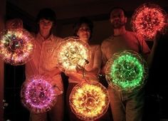 Sparkle ball this is a cute Idea for a out door evening wedding resection