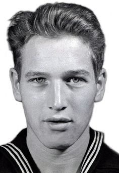 """United States Navy portrait of Paul Newman: """"Most Americans know actor Paul Newman had an Academy Award to his credit, but few know his list of awards also include a Navy Combat Action Ribbon and the coveted Combat Aircrew Wings he got while serving as an aviation radioman and aerial gunner during World War II."""""""