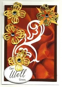 Get Well Soon You can get all your supplies for a card like this at our website www.scrapbookstampshop.com we have very low prices and some things on sale so check us out today.