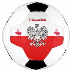 Polish flag soccer ball - pattern sample design template diy cyo customize