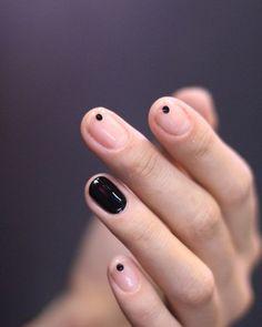 unistella minimal nails #fullcolornails #dotnails #minimalnails #unisedit_hong