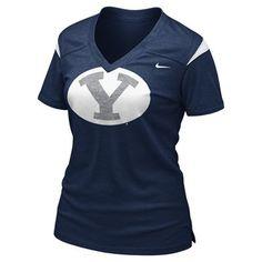 69cf2837451 BYU Cougars Women s Football Replica T-Shirt (Navy) Byu Football