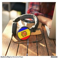 Andorra flag headphones