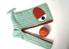 Genähte Hülle für Laptop und Tablet, Walfisch / whale shaped notebook sleeve made by Wild to Wear via DaWanda.com