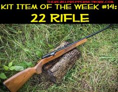 Entry of the top 90 most important prepping articles talks about the perfect gun for taking rabbits but not for dropping hostile forces! Kit Item of the Week 22 Rifle Homestead Survival, Survival Tools, Camping Survival, Survival Prepping, Emergency Preparedness, Survival Weapons, Writing A Persuasive Essay, Apocalypse Survival, Zombie Apocalypse