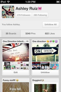 Go follow Ashley ! :) she absolutely loves one direction and has really cool pins so go follow !