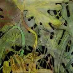 ". -- Debra Claffey 2010, encaustic, graphite on 300 lb. watercolor on panel, 10"" x 10"""