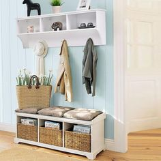 SALE! White Hanging Entryway Shelf White