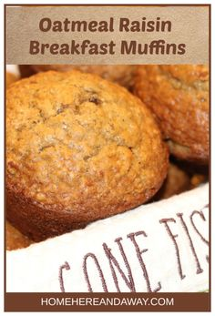 These hearty oatmeal raisin breakfast muffins will get you ready for a day in the city or a day at the lake. These hearty oatmeal raisin breakfast muffins will get you ready for a day in the city or a day at the lake. Gourmet Recipes, Dessert Recipes, Desserts, Sweet Recipes, Baking Recipes, Oatmeal Raisin Muffins, Biscuits, Healthy Breakfast Muffins, Breakfast Ideas