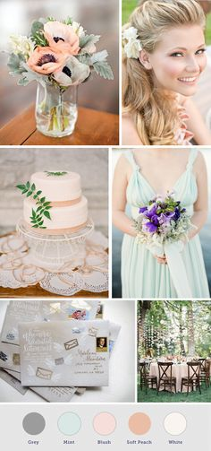 Mint and Peach Wedding Inspiration