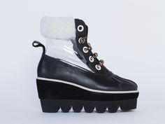 Degen Platelette Boot in Black at Solestruck.com