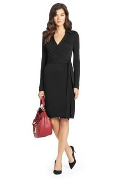 The New Jeanne Two wrap dress is a modern take on the timeless classic. It's as fresh, flattering, and chic as ever. Cross over wrap with straight skirt and a self-tie belt. With collar. Long sleeves.