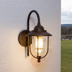 Applique Exterieur à intensité variable 'Meret' en aluminium - LAMPENWELT Outdoor Wall Lighting, Exterior Lighting, Garage Exterior, Country Style Homes, Lighting Online, Rust Color, Interior Walls, Parma, Sconces