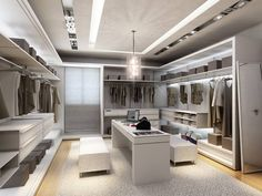 New Modern Closet Designs Walk In Wardrobe Ideas Walk In Closet Design, Bedroom Closet Design, Master Bedroom Closet, Closet Designs, Bedroom Closets, Master Bedrooms, Closet Walk-in, Dressing Room Closet, Dressing Room Design