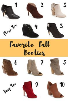 I love Fall, the crisp air in the morning, snuggling up with a warm blanket with some hot chocolate. Most especially I love when I can finally leave the sandals behind and break out the boots and booties!!! Here is  my Fall boot round up. I think every single one of these will complete your Fall wardrobe.