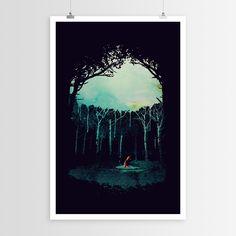 Deep in the Forest | Robert Farkas Art Posters | WallsNeedLove