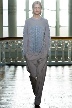 Pringle of Scotland | Fall 2014 Ready-to-Wear Collection | Style.com beautiful neck shaping and use of pailettes