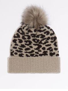 Warehouse Leopard Beanie - Light Grey | littlewoodsireland.ie Leopard Spots, Faux Fur Pom Pom, High Leg Boots, Long Toes, Winter Accessories, Light Colors, Snug, Latest Fashion, Winter Hats
