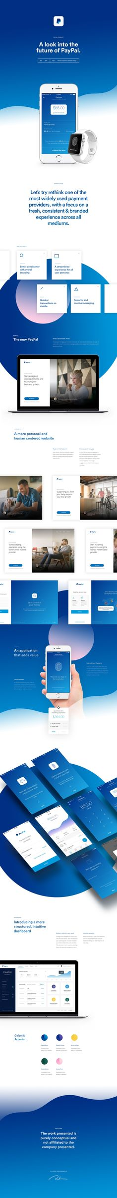 Paypal Redesign by Filippos Protogeridis #ui #ux #userexperience #website #webdesign #userinterface
