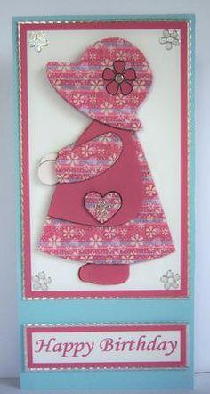 Free Print Sunbonnet Sue | Sunbonnet sue pink shabby chic patchwork step by step