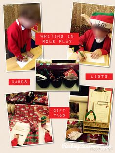 Writing in Santa's workshop