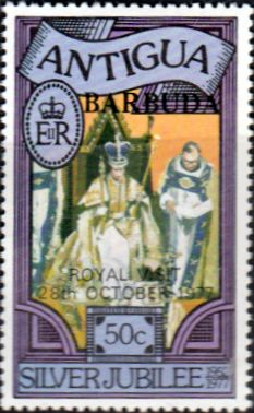 Barbuda 1977 Royal Visit Fine Mint SG 351 Scott 314 Other West Indies and British Commonwealth Stamps HERE!