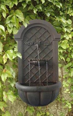 Verona Outdoor Wall Water Fountain Iron Finish Water Feature Garden Decor http://www.ebay.com/itm/Verona-Outdoor-Wall-Water-Fountain-Iron-Finish-Water-Feature-Garden-Decor-/261088955633?pt=LH_DefaultDomain_0=item3cca1d4cf1