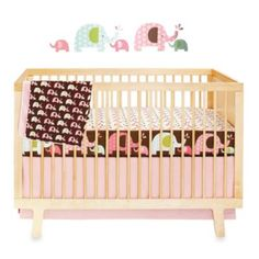 SKIP*HOP® Pink Elephant Complete Sheet™ 4-Piece Crib Bedding Collection - buybuyBaby.com