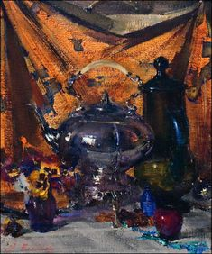 Seeking superior fine art prints of Still Life Kettle, No. 2 by Nicolai Fechin? Painting Still Life, Still Life Art, Paintings I Love, Nicolai Fechin, Inspiration Art, Vincent Van Gogh, American Artists, Painting & Drawing, Pablo Picasso